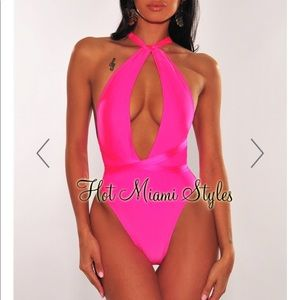 Hot Pink Multi-Wear Swimsuit